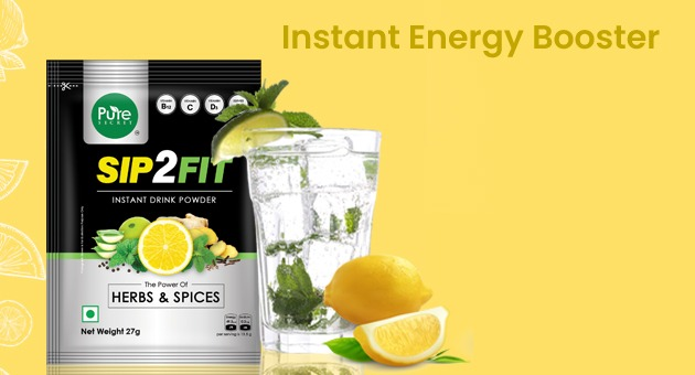 Energy booster contains lemon ginger tulsi