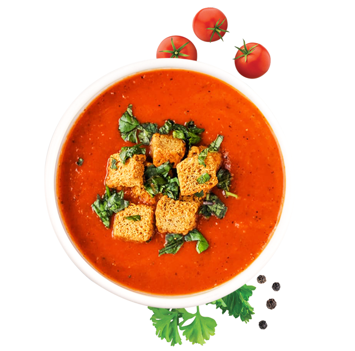 Tomato Soup with Breadcrumbs